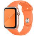 Apple řemínek pro Watch Series, sportovní, 44mm, oranžová