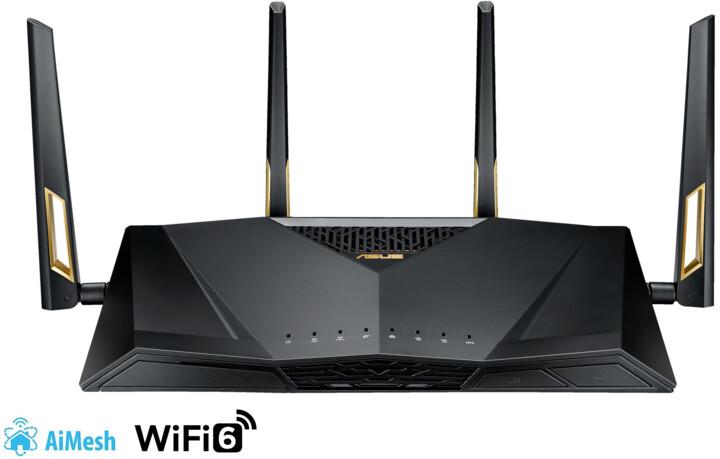 ASUS RT-AX88U, AX6000, Dual Band Gigabit Aimesh Router
