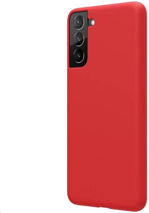 Nillkin silikonové pouzdro Flex Pure Liquid pro Samsung Galaxy S21+, červená