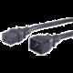 PremiumCord Kabel síťový prodlužovací 230V 16A 1,5m, konektory IEC 320 C19 - IEC 320 C20