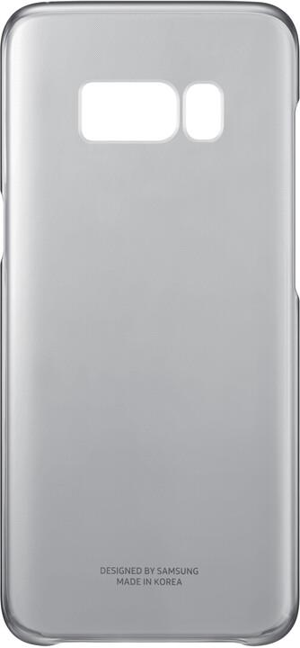 Samsung S8 poloprůhledný zadní kryt, černá