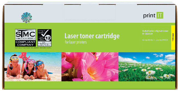 PRINT IT alternativní HP CE252A Color LaserJet CP3525 Yellow