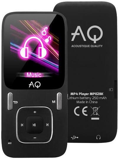 AQ MP02, 4GB, černá