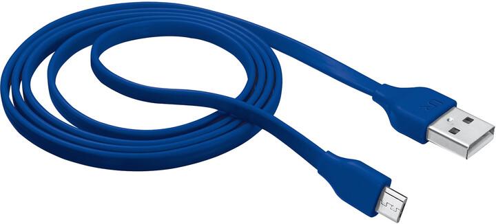 Trust Flat Micro-USB kabel 1m, modrá