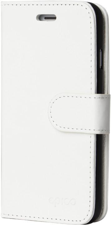 EPICO FLIP kožené pouzdro pro iPhone 7/8 - bílé