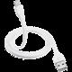 Trust Flat Lightning kabel 1m, bílá