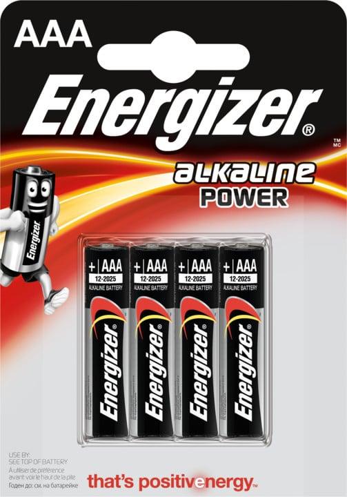 Energizer baterie LR03/4 Power Alkaline AAA/4, 4ks