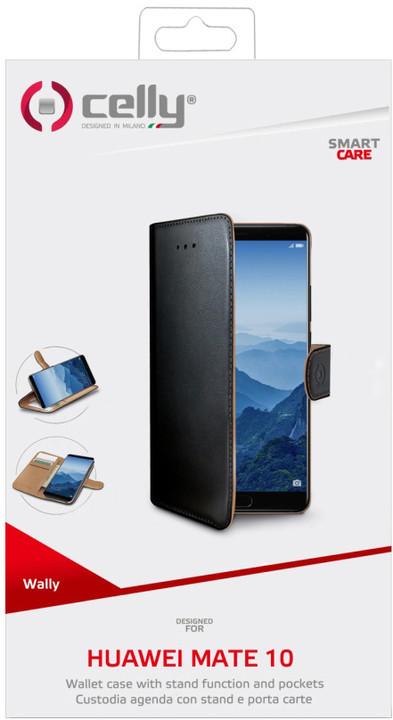 CELLY Wally pouzdro typu kniha pro Huawei Mate 10, PU kůže, černé