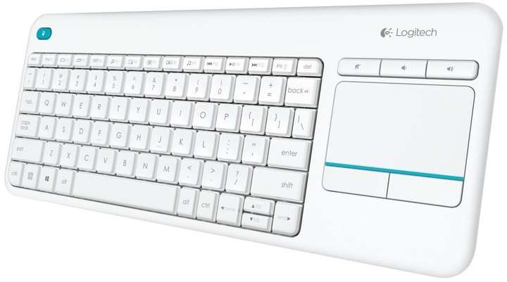 Logitech K400 Plus, US, bílá