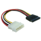 Delock adaptér MOLEX 4-pin na SATA 15-pin, přímý, 6cm
