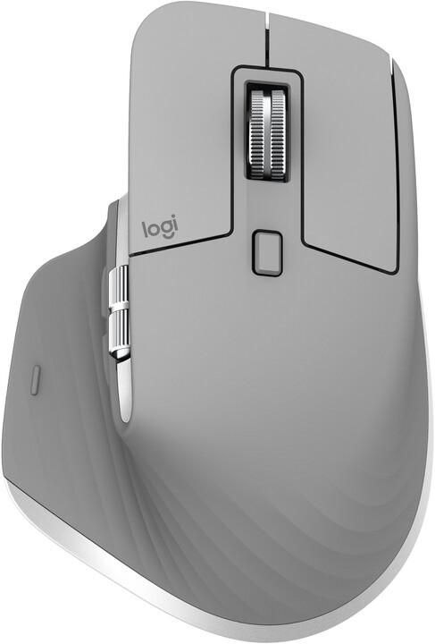 Logitech MX Master 3, šedá