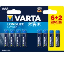 VARTA baterie Longlife Power AAA, 6+2ks - 4903121428