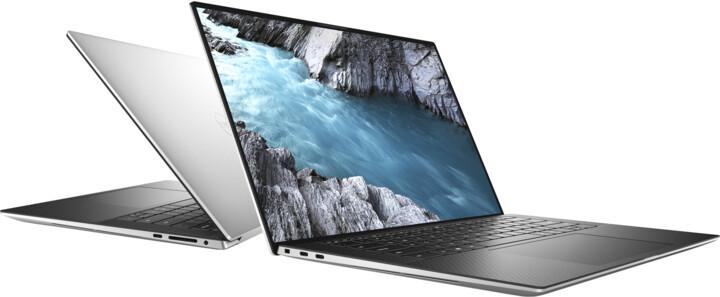 Dell XPS 15 (9500) Touch, stříbrná-černá