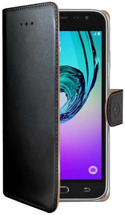 CELLY Wally Pouzdro typu kniha pro Samsung Galaxy J3 (2016), PU kůže, černé