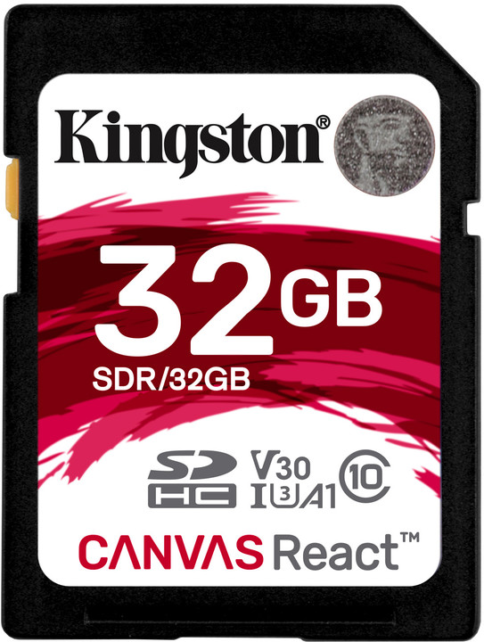 Kingston SDHC Canvas React 32GB 100MB/s UHS-I