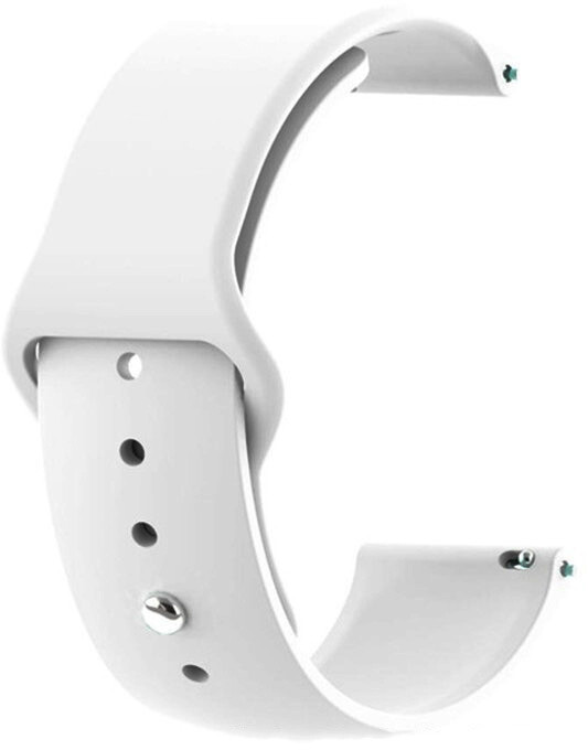 Tactical 436 silikonový řemínek pro Amazfit BIP/Galaxy Watch/Fenix 5S, 20mm, bílá