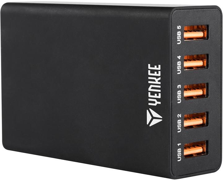 YENKEE YAC 3005BK USB nabiječka 5port 8A
