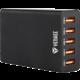 YENKEE YAC 3005BK USB nabiječka 5port 8A  + SLL 53 ČELOVKA PROFI 3WATT 3xAAA SENCOR (v ceně 439 Kč) + Voucher až na 3 měsíce HBO GO jako dárek (max 1 ks na objednávku)