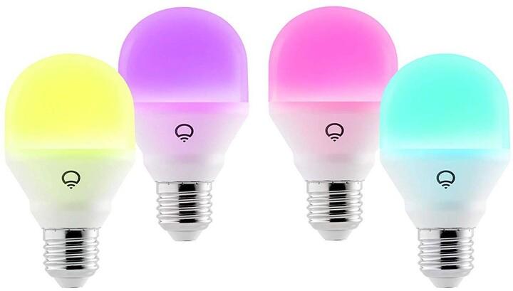 LIFX Mini Colour and White Wi-Fi Smart LED Light Bulb E27 - 4 Pack