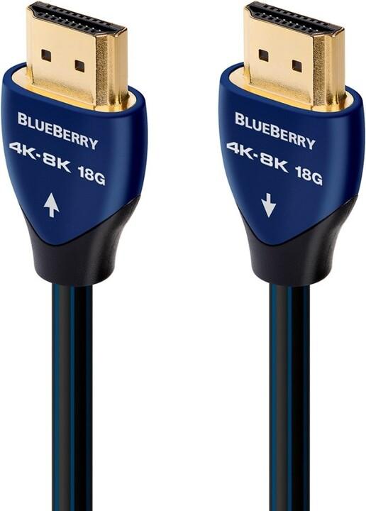 Audioquest kabel BlueBerry HDMI 2.0, M/M, 8K@30Hz, 1m, černá/modrá