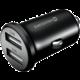 SWISSTEN CL adaptér 2x USB 4,8A Metal, černá