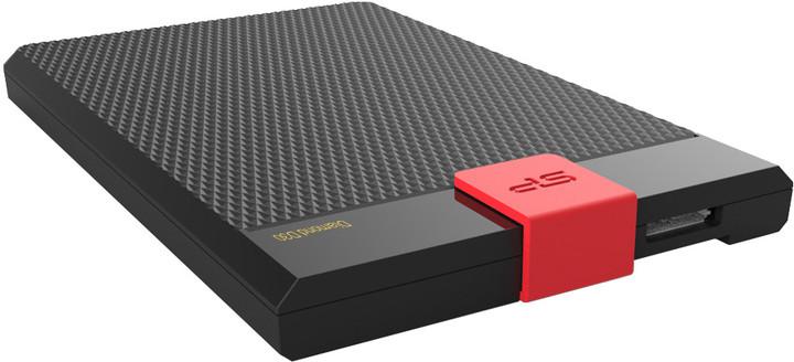 Silicon Power Diamond D30 Slim - 2TB, černá