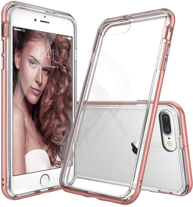 Ringke Frame case pro iPhone 7, rose gold