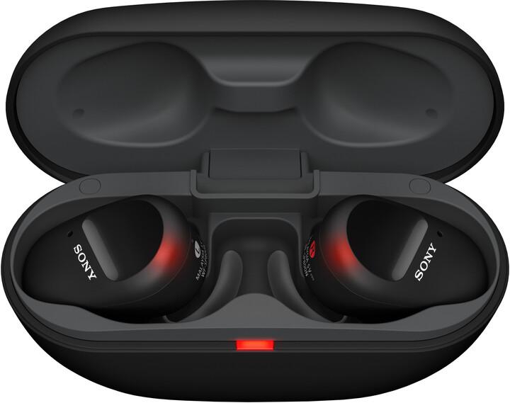 Sony WF-SP800N, černá