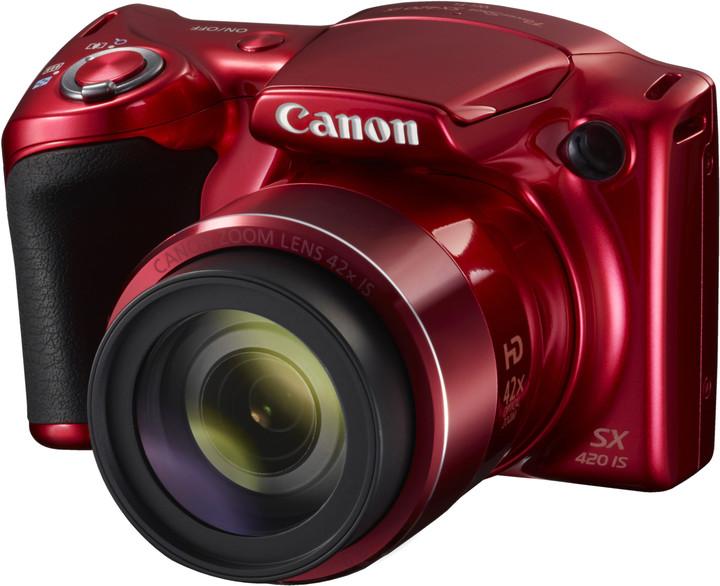 Canon PowerShot SX420 IS, červená