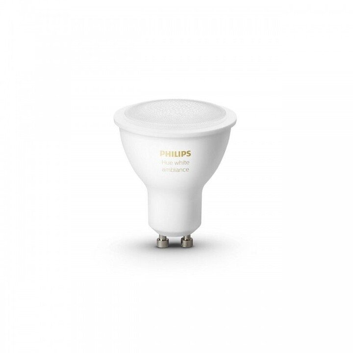 Philips Hue LED White Ambiance žárovka GU10 5W 350lm 2200K-6500K set 2 ks