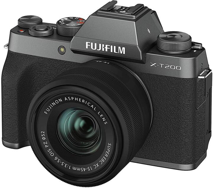 Fujifilm X-T200 + XC15-45mm, tmavě stříbrná