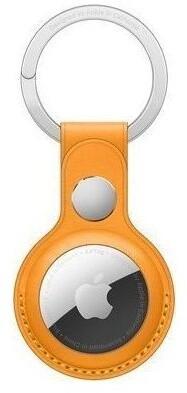 Apple klíčenka na AirTag, kožená, oranžová