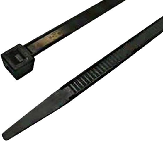 MaxLink stahovací páska, 9,8cm, šířka 2,5mm, 100ks, černá