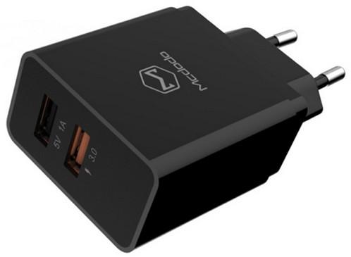 Mcdodo nabíječka s 2xUSB s 1x QC3 bez kabelu, 1A, černá