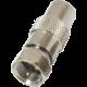 PremiumCord adaptér, redukce F vidlice / IEC vidlice