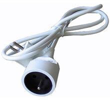 Solight prodlužovací kabel - spojka, 1 zásuvka, bílá, 1,5m