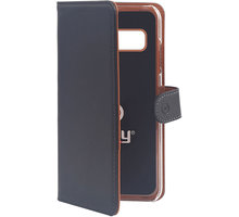 CELLY pouzdro typu kniha Wally pro Samsung Galaxy S10, PU kůže, černá - WALLY890