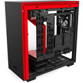 NZXT H700, okno, černočervená