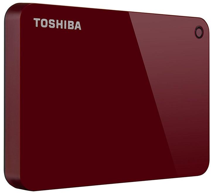 Toshiba Canvio Advance - 2TB, červená