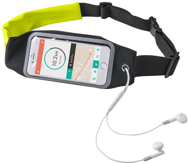 """CELLY RUNBDUO sportovní neoprénové pouzdro, velikost XL pro telefony do 5"""", žluté"""