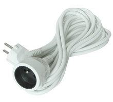 Solight prodlužovací kabel - spojka, 1 zásuvka, bílá, 7m - PS15