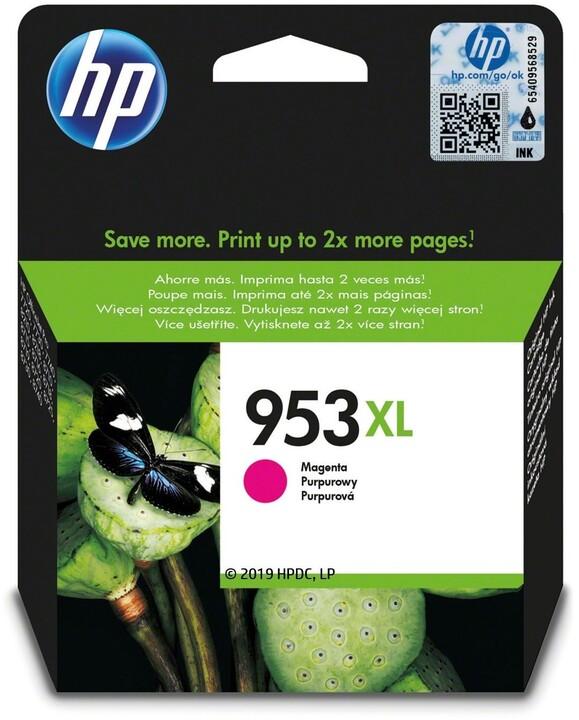 HP F6U17AE, náplň č.953 XL, purpurová