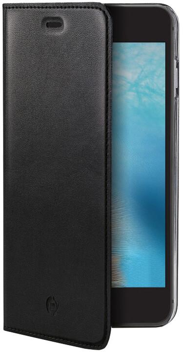 CELLY Air Pelle Pouzdro typu kniha pro Apple iPhone 7, pravá kůže, černé