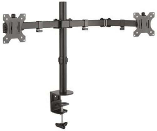 CONNECT IT TwinArm stolní držák na 2 monitory, černý