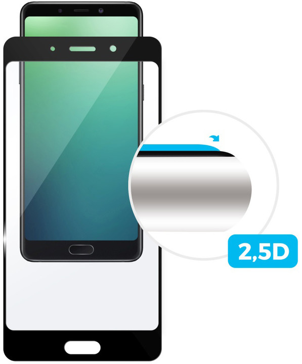 FIXED Full-cover ochranné tvrzené sklo pro Huawei P20 Pro, přes celý displej, černé, 0.33 mm