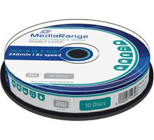 MediaRange DVD+R 8,5GB DL 8x, 10ks Spindle