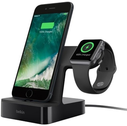 Belkin nabíjecí stojánek pro Apple Watch + iPhone 5/6/7/8/X - černý