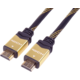 PremiumCord GOLD HDMI High Speed + Ethernet kabel, zlacené konektory, 1m