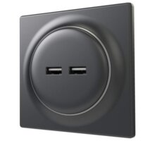 Fibaro Walli USB zásuvka matný antracit - FGWU-021-8