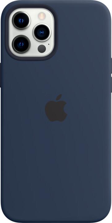 Apple silikonový kryt s MagSafe pro iPhone 12 Pro Max, tmavě modrá